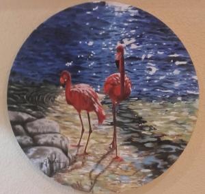 Oleo sobre lienzo circular. Diámetro: 40cm